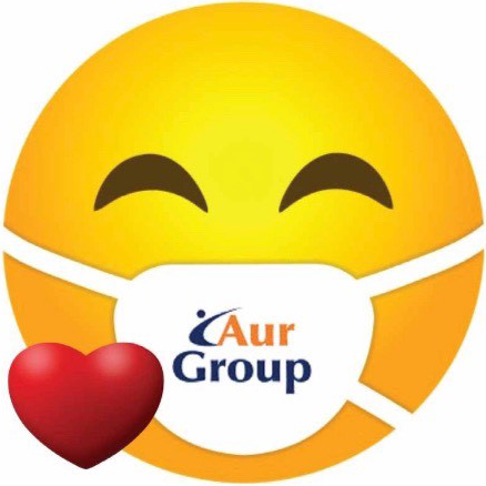 Smiley Face with AurGroup Mask and Heart