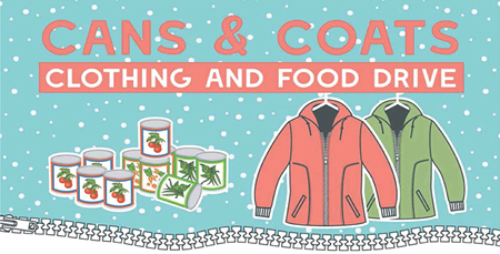 Cans & Coats Clothing and Food Drive